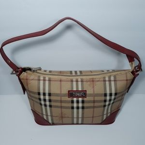BURBERRY Blue Label Nova Check Haymarket Hobo Bag